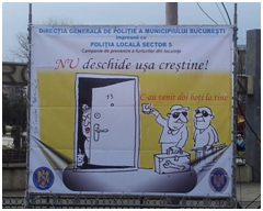 Fig 2. Urare de Crăciun (București, Podul Izvor, decembrie 2013, foto. S. C.)