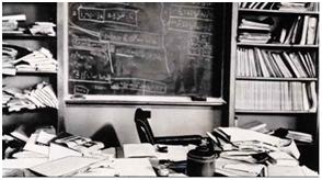 Foto. 1. Biroul lui Albert Einstein, așa cum a rămas după moartea sa.